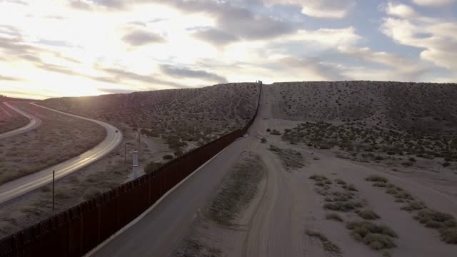 The United States Mexico International Border Wall between Sunland Park New Mexico and Puerto Anapra, Chihuahua Mexico