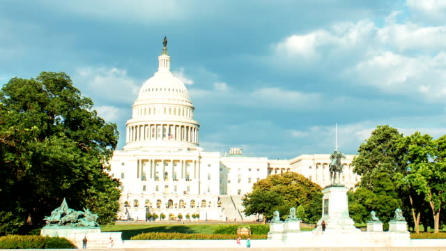 The US. Capitol time lapse. video