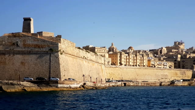 The Valletta skyline as seen from the see. Malta video