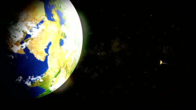 the view from space - io księżyc filmów i materiałów b-roll