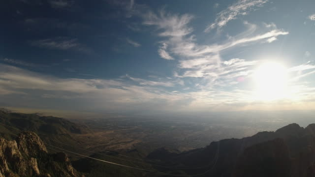 The View From The Sandia Peak Tramway Near Albuquerque, New Mexico