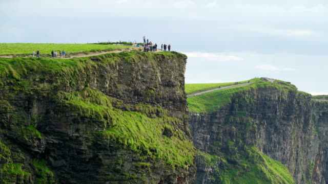 The view of the beautiful Cliffs of Moher in Ireland video
