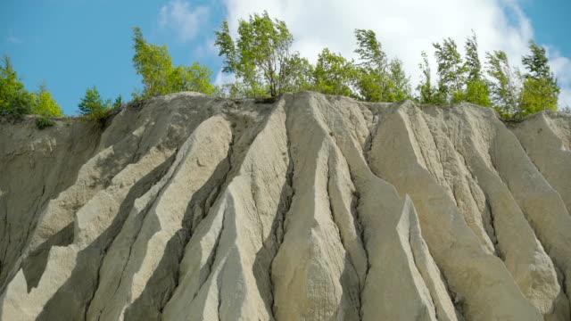 The view of the limestone quarry in Rummu Estonia video