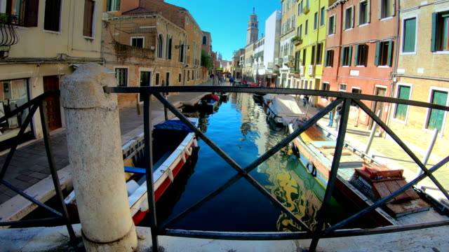 The view of the small canal in Venice Italy video