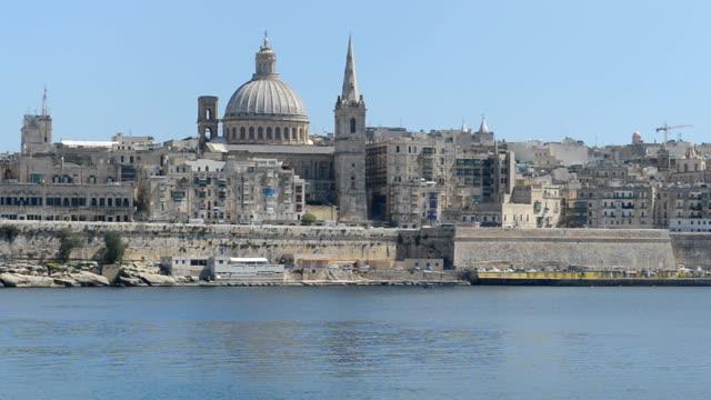 The view on Valletta, Sliema, Malta video