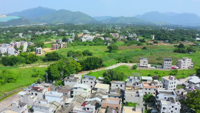 The village of Sheung Shui in the New Territories of Hong Kong