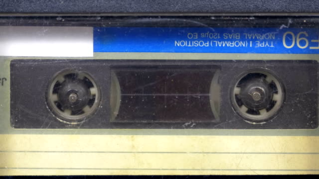 The Vintage Audio Cassette in the Tape Recorder Rotates video