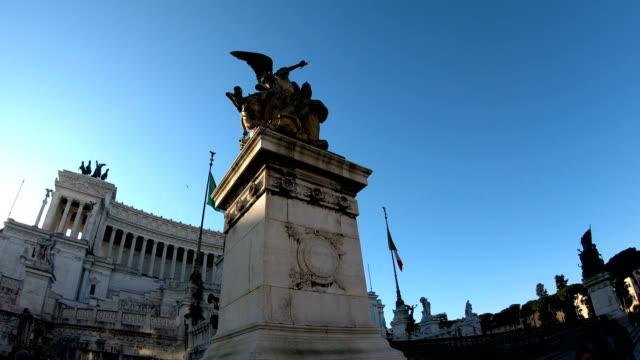4K The Vittorio Emanuele II Monument Monumento Nazionale a Vittorio Emanuele II or Altare della Patria video