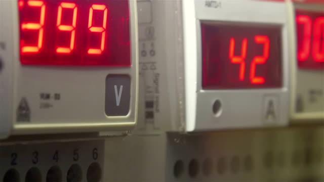 The Volt and Ampere reader in LED lights video