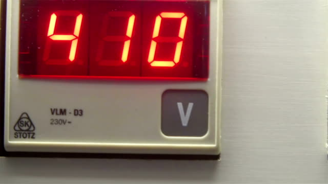 The Volt reader in LED light numbers video
