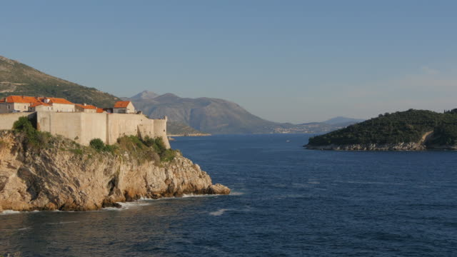 The walls of Dubrovnik and Lokrum Island