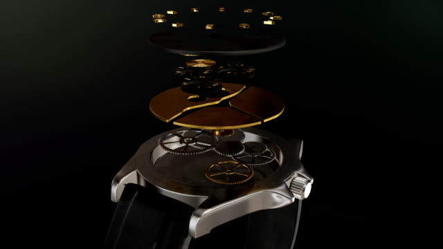 The Watch This is an animation of a watch coming apart and coming back together.  The watch was created and animated in Maya.   wristwatch stock videos & royalty-free footage