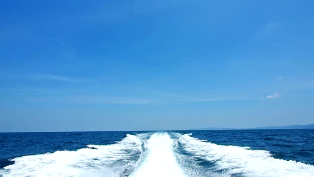 The waves from speed boat background video