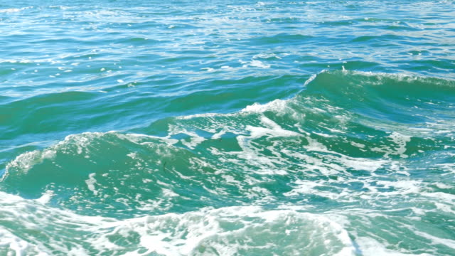 The waves of the sea from the ship The waves of the sea from the ship grooved stock videos & royalty-free footage