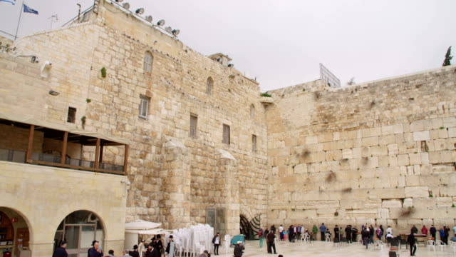 The western wall in the old city of Jerusalem in Israel video