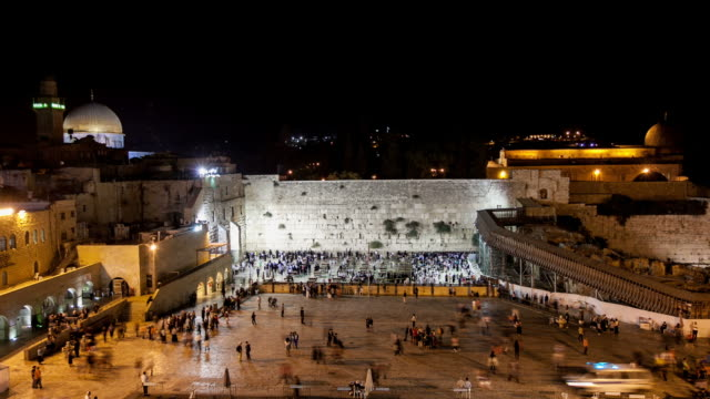 The Western Wall Timelapse at night video