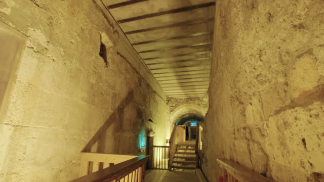 The western wall tunnels underneath the old city of Jerusalem in Israel video
