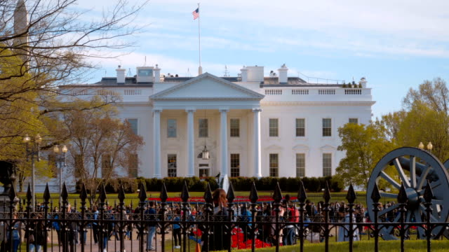 the white house in washington - home and office of the us president - white house стоковые видео и кадры b-roll