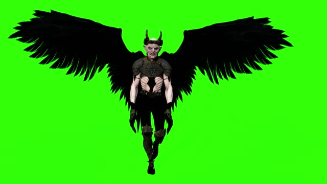 the Winged Demon Loop green background