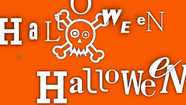 The Word 'Halloween' coming and going (Loopable) video