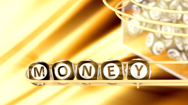the word money - bingo video stock e b–roll