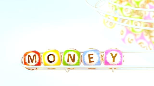 ordet pengar - bingo bildbanksvideor och videomaterial från bakom kulisserna