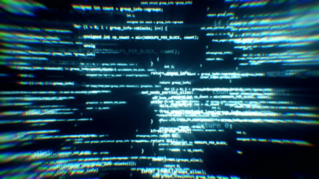 The work of program code in the technological space video