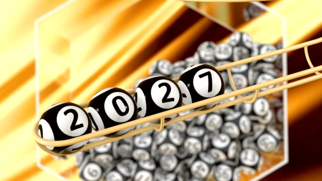 the year 2027 - bingo video stock e b–roll