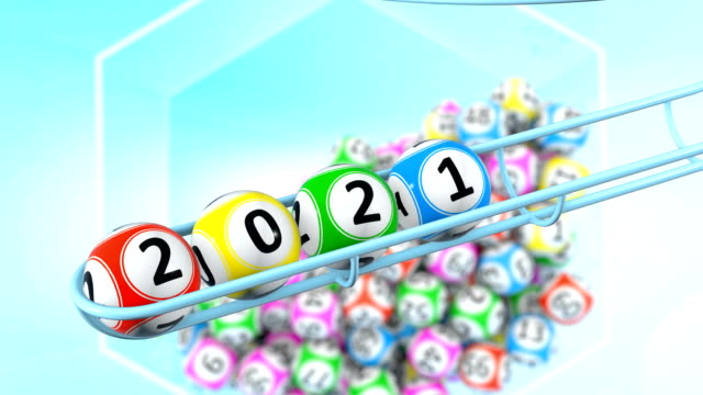 the year bingo balls - bingo video stock e b–roll