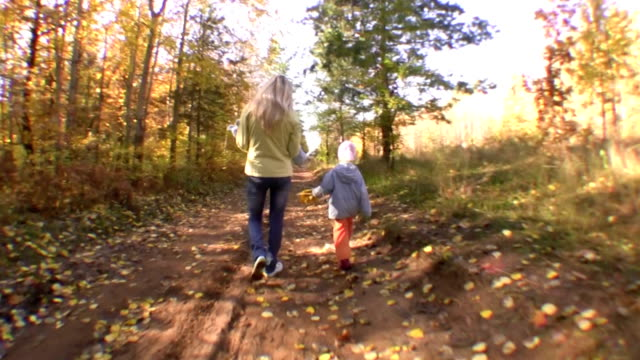 The young woman with two children video
