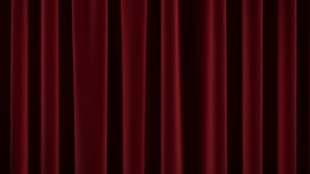 Theater curtain opens and close. video