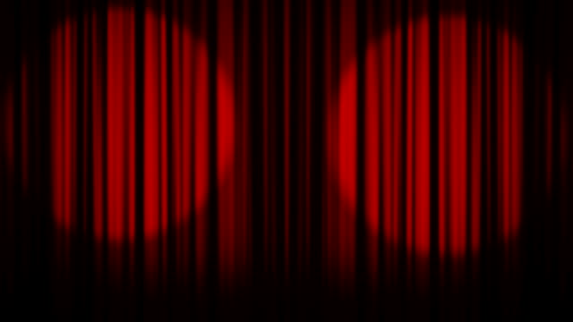 Theater, Curtain, Stage and Show Time Text video