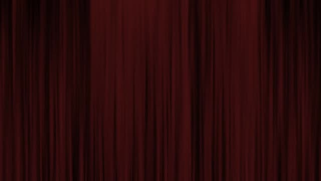 theater curtain stage curtain stage - sipario video stock e b–roll