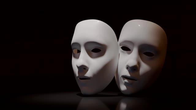 黒い背景に劇場のマスク。 - オペラ点の映像素材/bロール