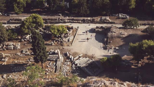 Odeion des Herodes Atticus auf die Akropolis in Athen – Video
