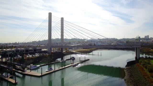 Theresa Foss Waterway Aerial Tacoma, Washington Downtown video