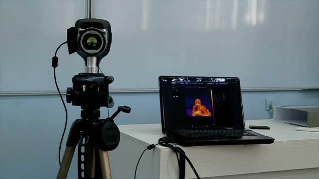 熱画像記録プレゼンテーション - センサー点の映像素材/bロール