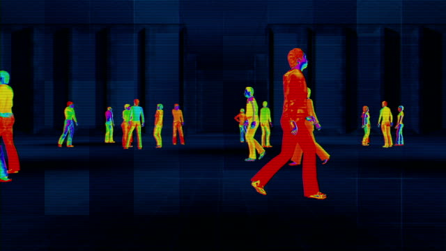 Thermal imaging camera detecting elevated body temperature
