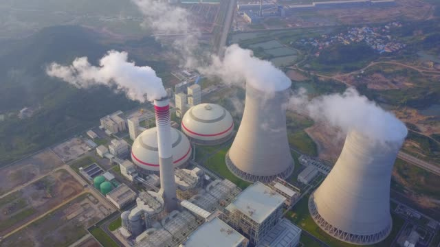 Thermal power station Thermal power station power supply stock videos & royalty-free footage
