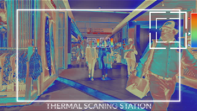 Thermal scanning system using AI to detect and prevention of Novel Coronavirus nCoV ( COVIC-19) pandemic 4K video of Thermal scanning system using AI to detect and prevention of Novel Coronavirus nCoV ( COVIC-19) pandemic medical scanner stock videos & royalty-free footage
