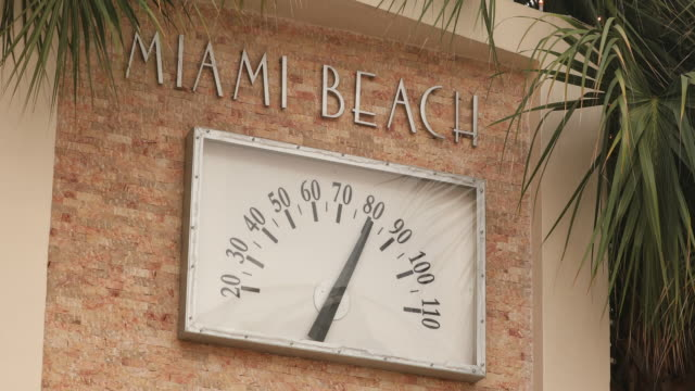 Thermometer on South Beach in Miami video
