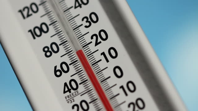 stockvideo's en b-roll-footage met thermometer, temperature rising - thermometer