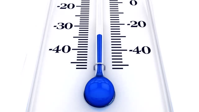 Thermometer with rising temperature