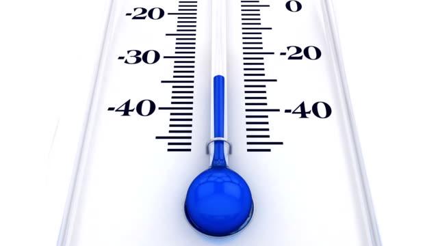 yükselen sıcaklıkile termometre - dondurulmuş stok videoları ve detay görüntü çekimi