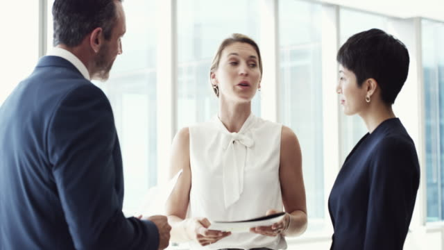 they communicate openly with each other - business people video stock e b–roll