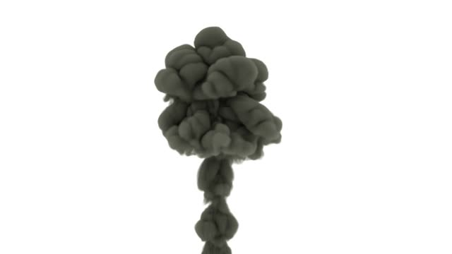 thick smoke on white background. smoke backdrop with alpha channel - comparsa video stock e b–roll