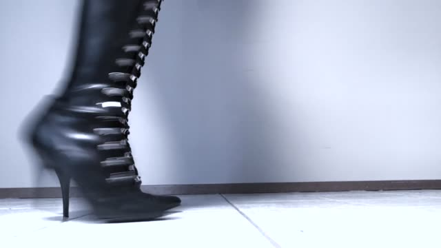 Thigh High Boots Scootching Across Floor video
