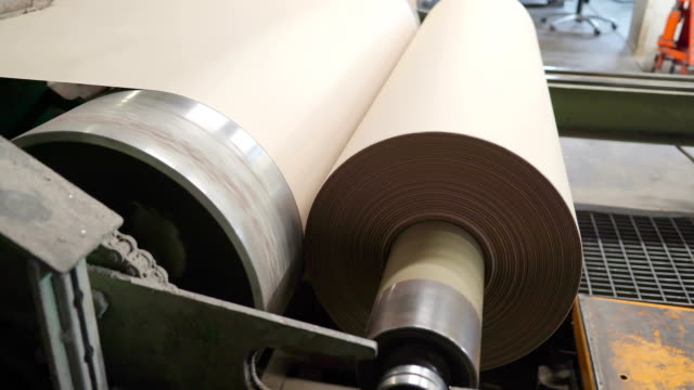 A thin sheet of paper on the roll in Rapina Estonia