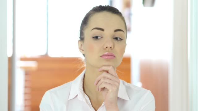 Thinking Creative Woman in Office video