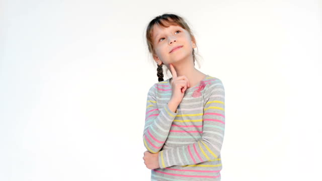 Thinking little girl video